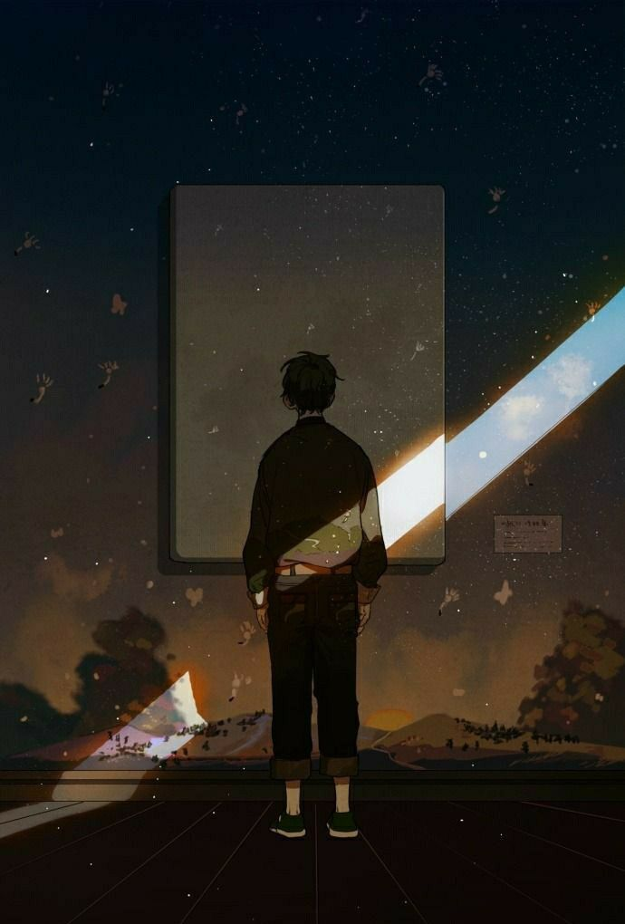 Pin On Wallpaper Lonely anime boy wallpaper iphone