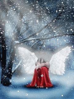 Distraught snow angel
