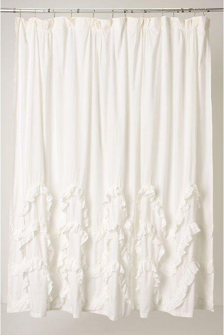Best 25 vintage shower curtains ideas on pinterest barn door shower curtain western shower - Waves of ruffles shower curtain ...