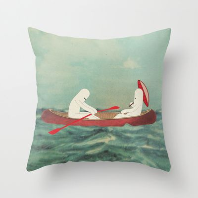 r o m a n t i c o n i Throw Pillow by Marco Puccini - $20.00