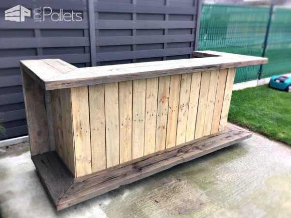 25 best ideas about Outdoor Pallet Bar
