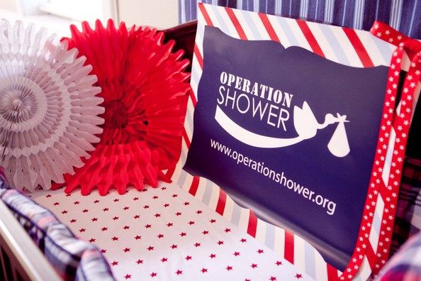 {Real Parties} Operation Shower's Red, White & Coo Baby Shower!