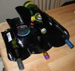 riutilizzare i vinili portabottiglie_vinile