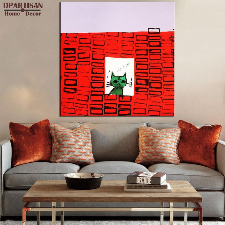 living room art prints%0A DPARTISAN Study So Meow c      pop art print Wall Painting picture Home  abstract Decorative Art
