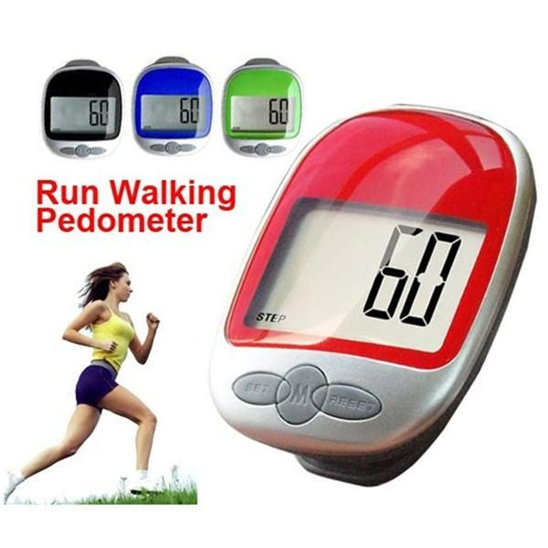 Large Display Jogging Step Pedometer Walking Calorie Distance Counter