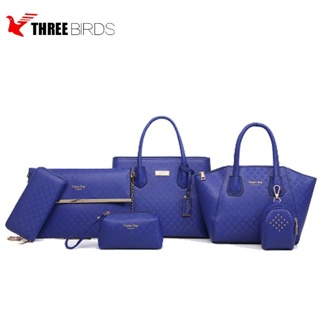 bb687cc03a Source wholesale fashion ladies bags pu leather handbag sets 6 pieces   set  tote bag organizer for ladies from china baigou on m.alibaba.com