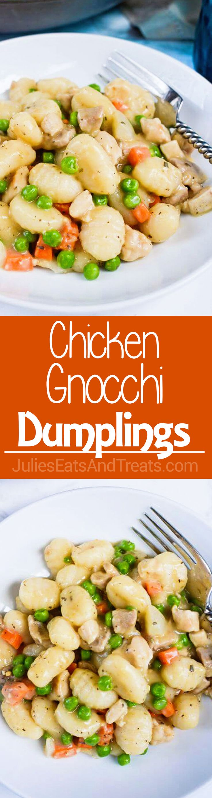 Chicken Gnocchi Dumplings ~ Perfect, Hearty Comfort Food! This Easy, Dinner is Ready in under 30 Minutes
