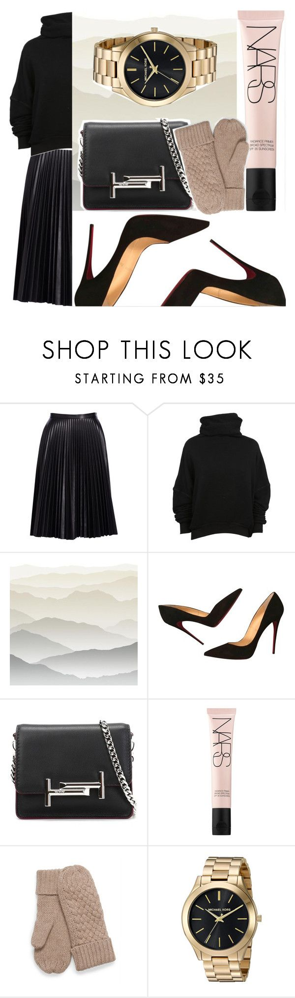 """""""Easy"""" by picale ❤ liked on Polyvore featuring Cusp by Neiman Marcus, Unravel, York Wallcoverings, Christian Louboutin, Tod's and NARS Cosmetics"""