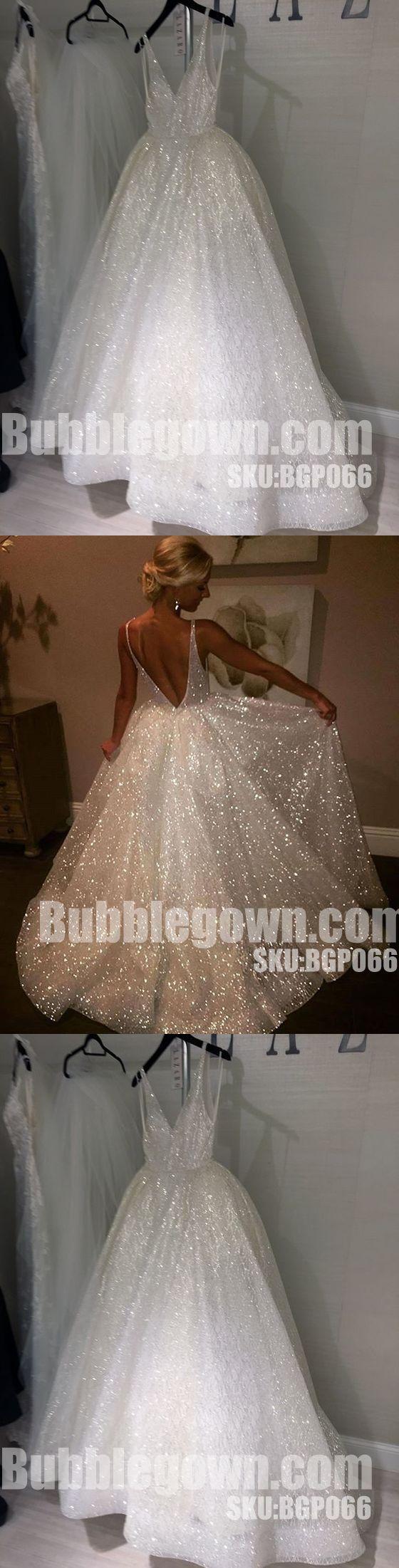 Sparkle V Neck Elegant V Back Best Sale Evening Long Prom Dress, BGP066 #promdress #promdresses #longpromdress #longpromdresses