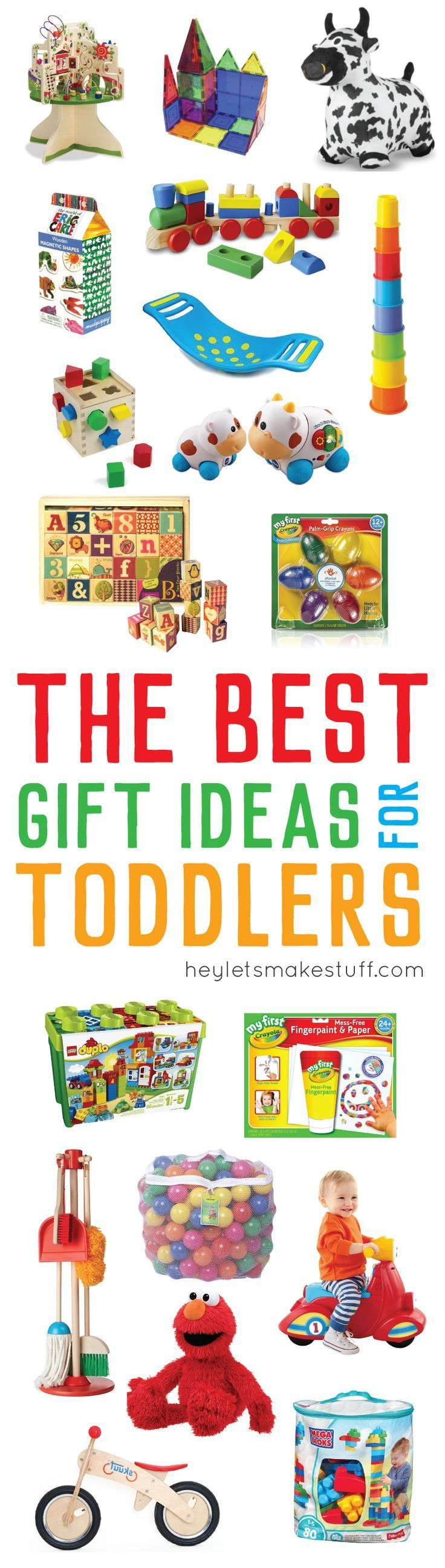 These toddler gifts are totally fun – and they're gender neutral toys, so they're great for everyone! Fun gift ideas for Christmas, birthdays, and holidays!