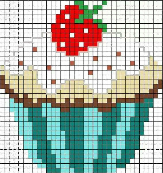 Cupcake para punto de cruz