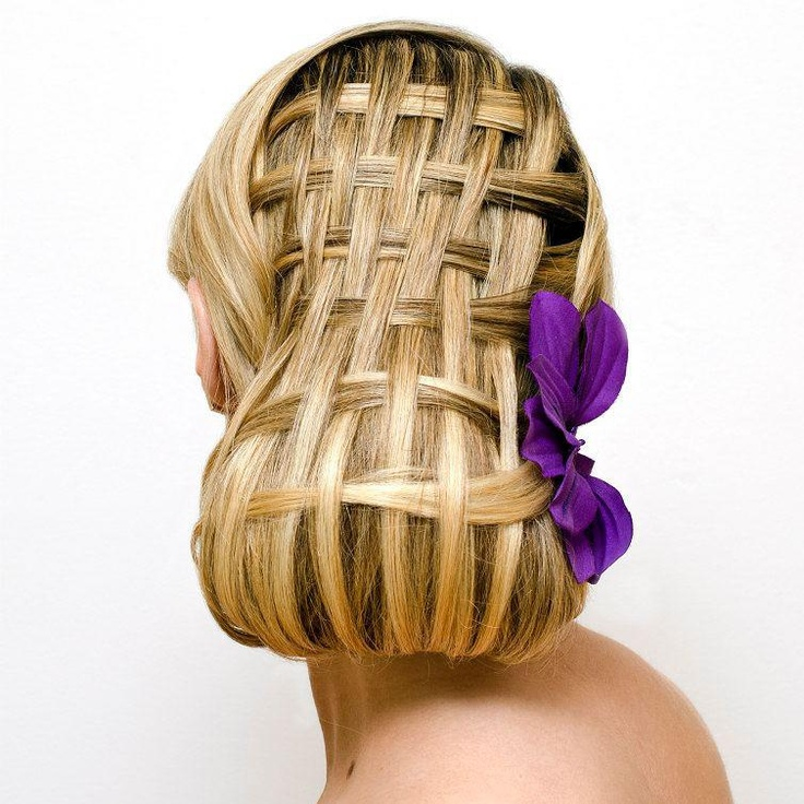 basket weave vintage style hair by Christle hair company