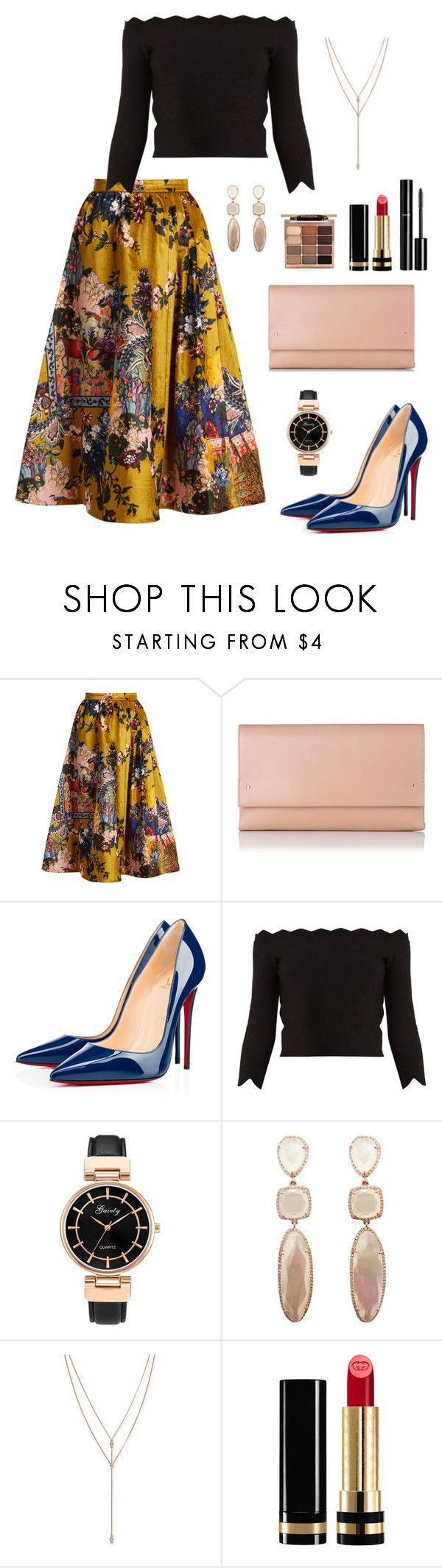 """Untitled #348"" by bajka2468 on Polyvore featuring Erdem, L.K.Bennett, Christian Louboutin, Alexander McQueen, Vince Camuto, Gucci, Chanel and Stila"