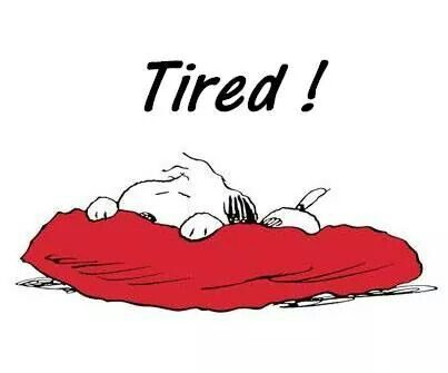 Me and Snoopy, but mine is permanent tired. I hate MS fatigue.