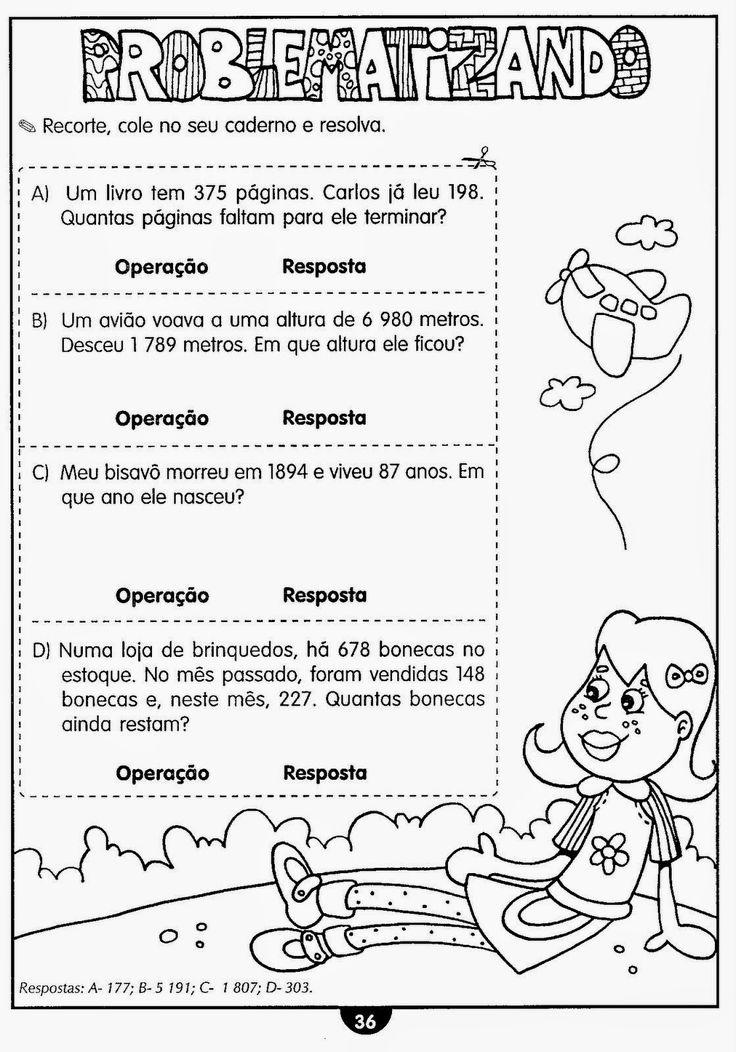 Exercícios de matemática 4º ano para imprimir                                                                                                                            Mais