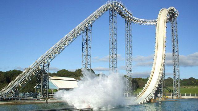 The Drenched rollercoaster at Oakwood Theme Park