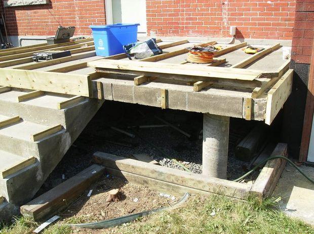 Building a Wooden Deck Over a Concrete One   Backyard ...