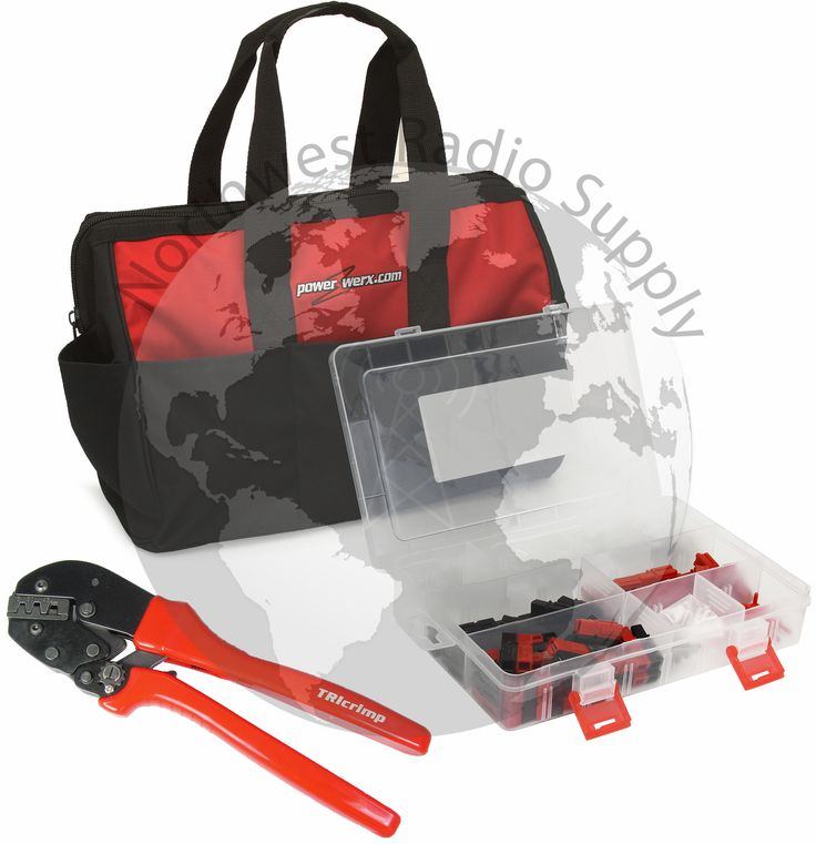 PowerpoleBag, the best Powerpole crimping tool and assorted Powerpole case in a custom nylon gear bag