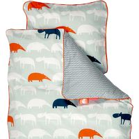 DONE BY DEER Beddengoed Baby Zoopreme, blauw