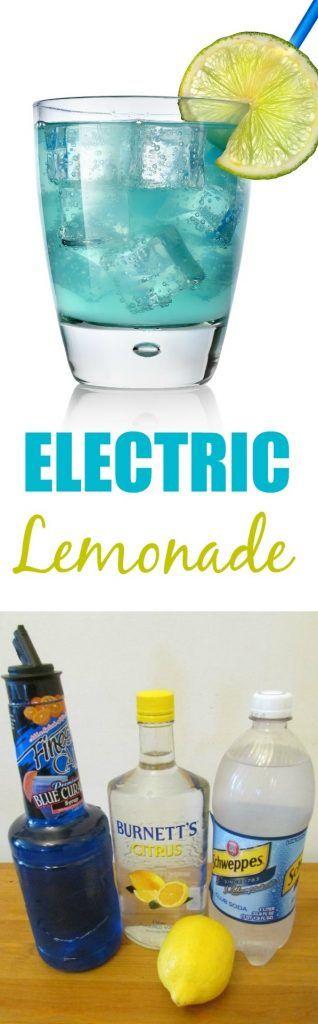 Blue Electric Lemonade Low-Calorie Cocktail