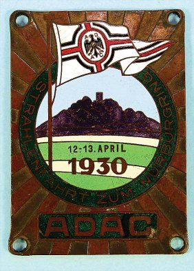 """""""ADAC Strahlenfahrt zum Nürburgring"""" (a rally to the Nürburgring), from April 12th to April 13th in 1930"""