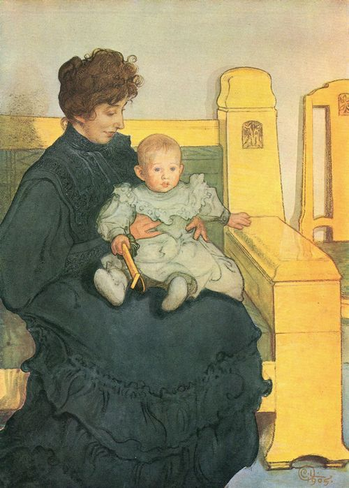Carl Larsson Erik W His Mother Karin The Wife Of Swedish Artist