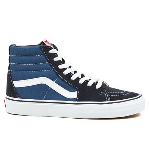 This Vans Hi is one of the most iconic Vans Shoes out there. If you don't  like it as a high top, cut off the high part and duct tape it up ...