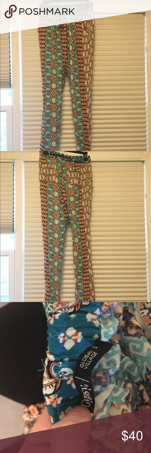 Gypsy 05 Loose-Fitting Printed Pants Super unique loose-fitting Printed pants by the brand Gypsy05 from PacSun. Pockets in the back!  Size S  In perfect condition with absolutely no signs of wear!   Originally retailed for $178 Gypsy 05 Pants