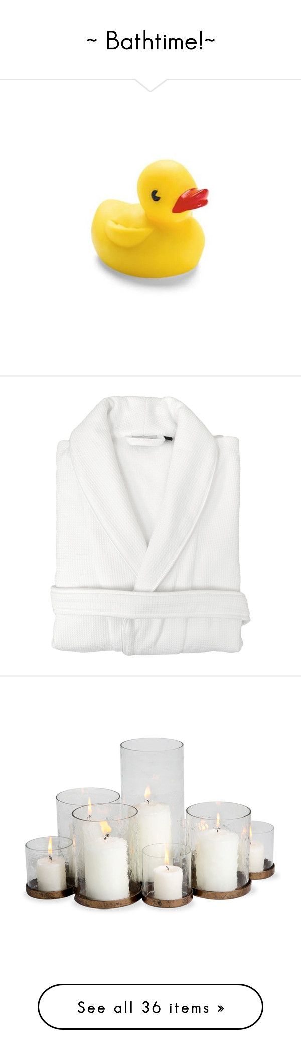 """""""~ Bathtime!~"""" by queen-of-music ❤ liked on Polyvore featuring baby, intimates, robes, cotton waffle weave robe, waffle weave robe, terrycloth robe, cotton waffle robe, linum home textiles, home and home decor"""