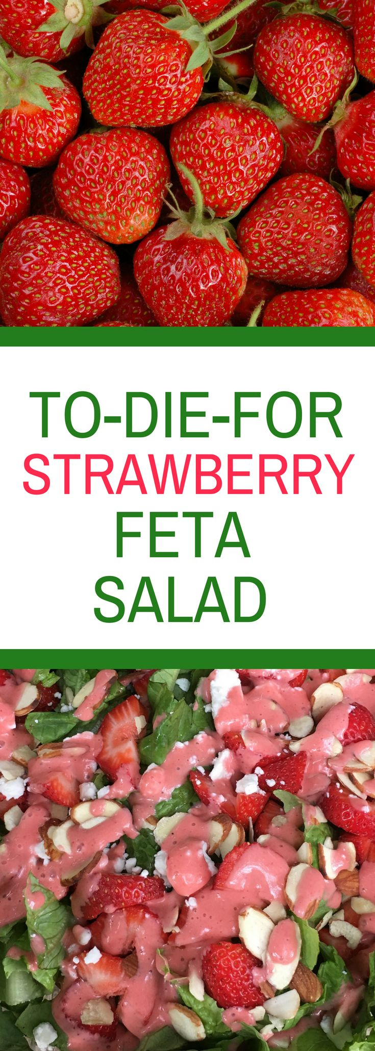 To-Die-For Strawberry Feta Salad - Healthy tastes amazing with this delicious salad with it's creamy strawberry dressing!