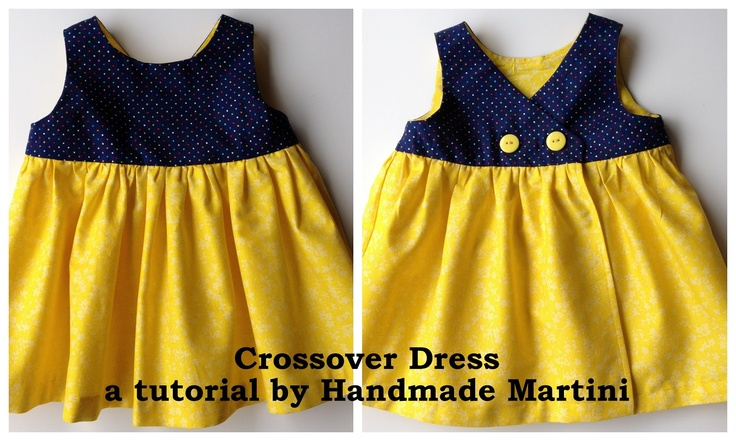 Project Run and Play: Flickr Friends: Michelle from Handmade Martini - Crossover Dress