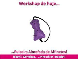 "Kat Rose Fashion Workshops: Pulseira Almofada de Alfinetes ""Manequim"""