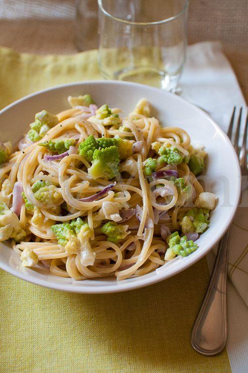 Spaghetti cremosi con broccolo romano