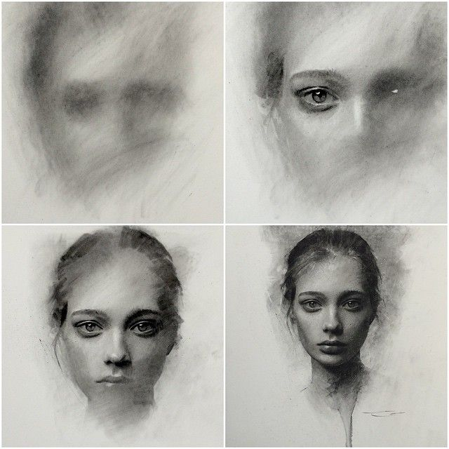 Instagram media by caseybaugh - Charcoal progression. Values first. 5 hours ➰ #art #charcoal #drawing #caseybaugh