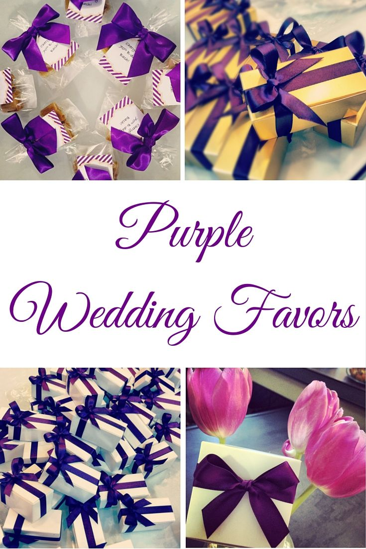 Purple Wedding Favors: Caramel Wedding Favors in a variety of packaging options & flavors!