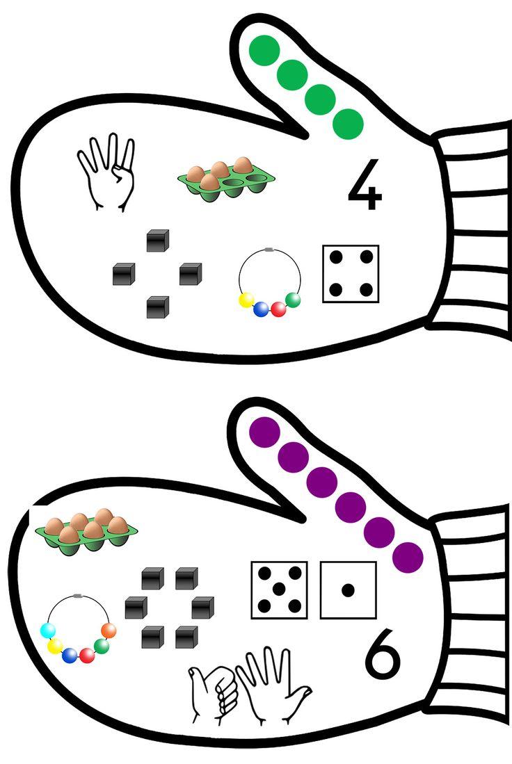 La moufle - modèle de la page de représentation des nombres