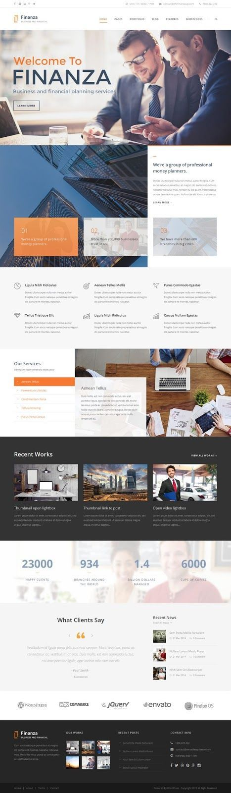 Finanza is a clean responsive WordPress theme. It is especially designed for…