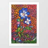 Art Print featuring Flower in Oil by Juliana Kroscen