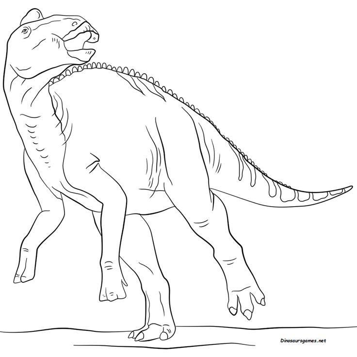 Dinosaur Jurassic Edmontosaurus Coloring Page Dinosaur Coloring