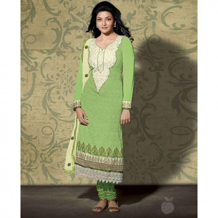 Light Green Karachi Suit At Just 1695/- Kajalagarwal