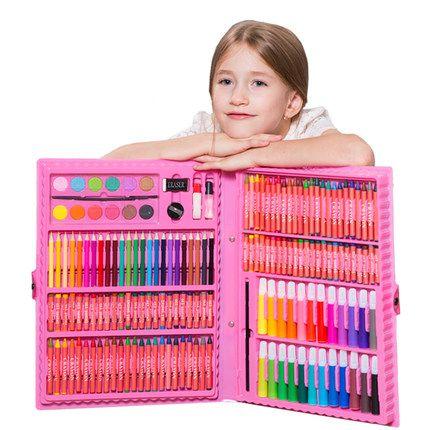 儿童画笔绘画套装学习用品画画工具小朋友学生水彩笔美术文具礼盒