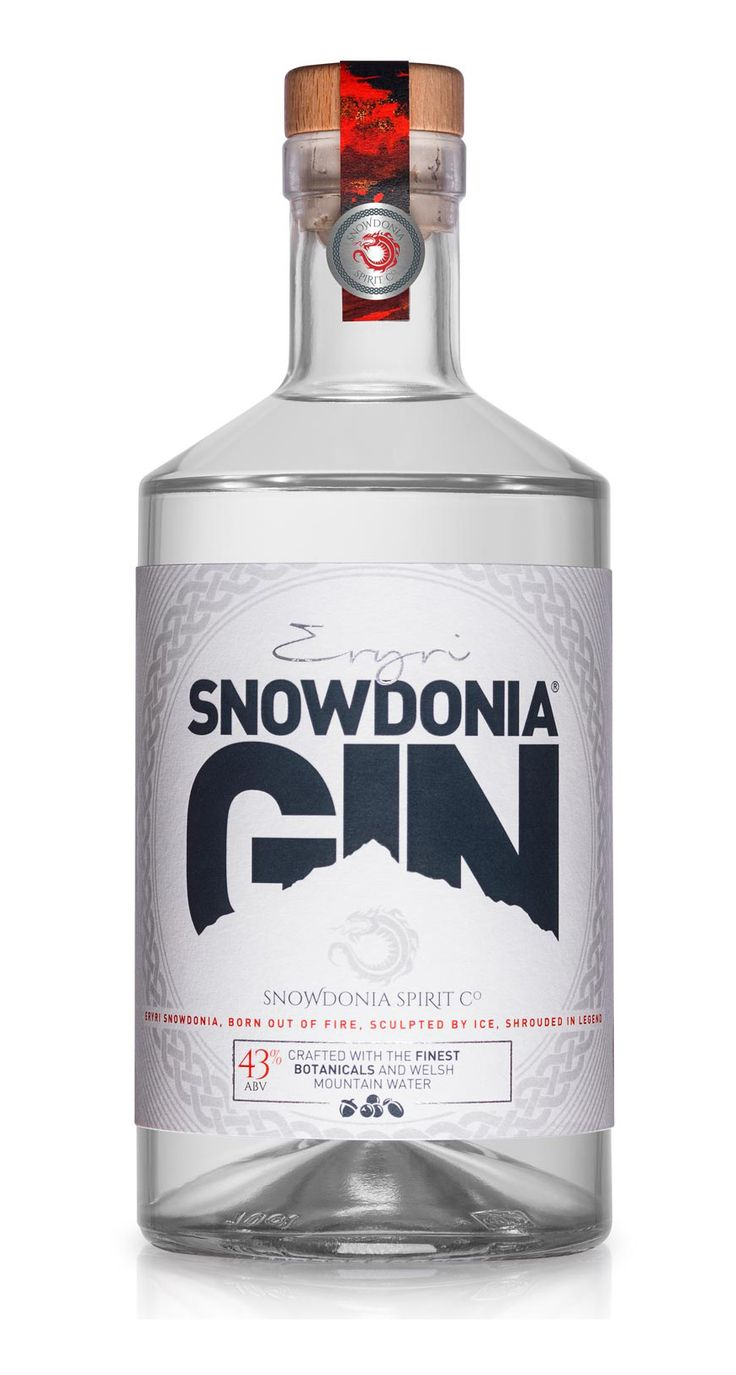 Snowdonia Gin 43%ABV Plum and citrus notes combine with subtle spices and oak to create a refreshing and distinctive gin. Bottled at 43% ABV, Snowdonia Gin makes a great cocktail and a seriously refreshing, distinctive and tasty G&T, garnished with a slim twist of lemon peel.