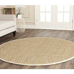 Foyer under round table. . Amazon.com - Safavieh Natural Fiber Collection NF114J Natural and Ivory Seagrass Round Area Rug, 6 feet in Diameter (6' Diameter) - Area Rugs