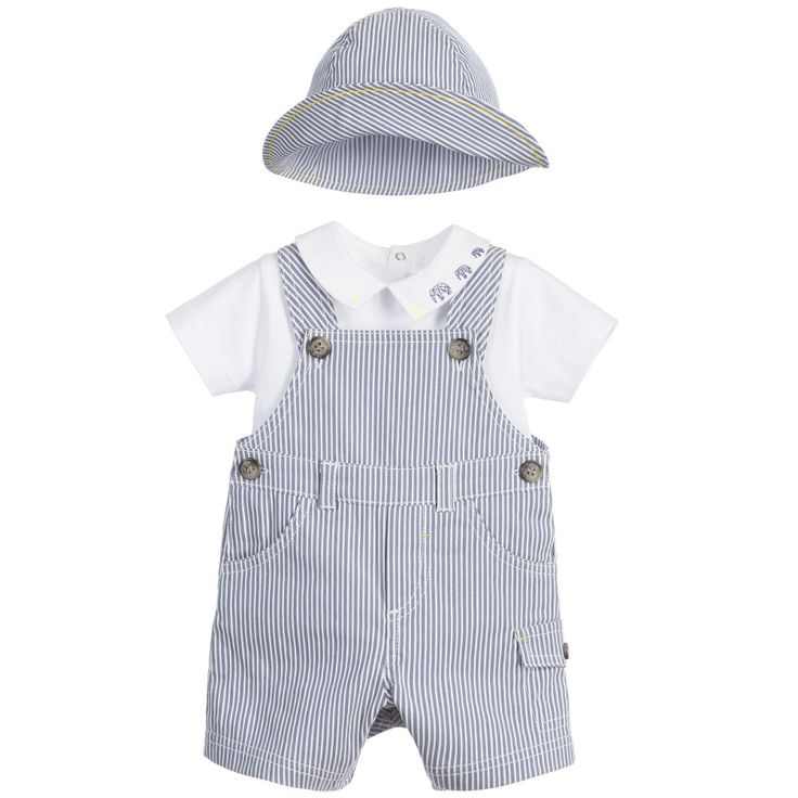The Little White Company Baby Boy Dungaree & Bodysuit Combo Size M - NWT See more like this Handmade Crochet Baby Dungarees. Blue/Multicolor, fits approx. yrs.