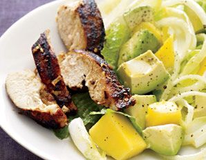 chicken  avocado salad with lime