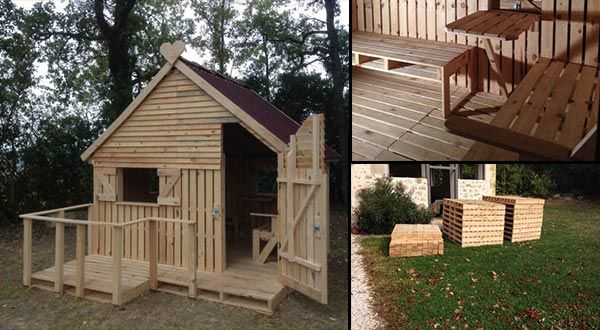 This cabin wasmade using 19 new wooden pallets and let me tell you, it is amazing. If you are lucky enough to pick up free pallets you could literally make…