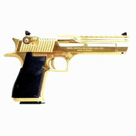 IMI Desert Eagle Mark XIX with gold finish - .44 Magnum - Pistol