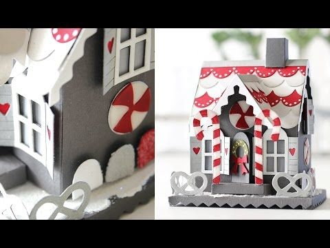 Tim Holtz Gingerbread House with Shari Carroll Part One - YouTube                                                                                                                                                                                 More