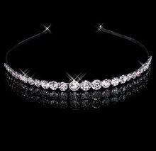 Nueva cristales claros rhinestone W Tiara nupcial de la venda headwear pelo de la boda accesorios(China (Mainland))