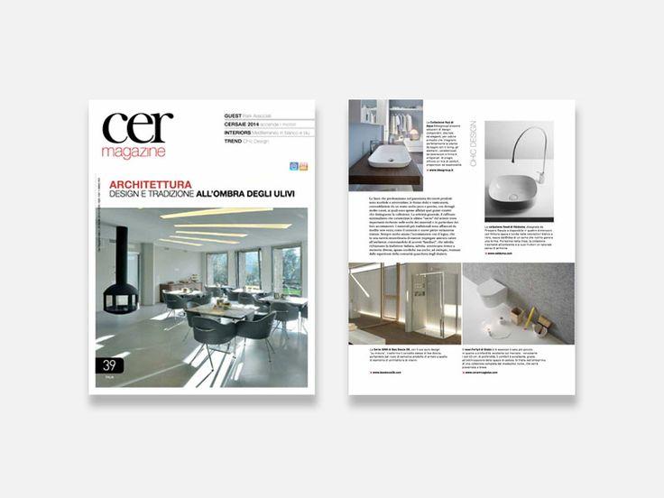 "Cer Magazine ""Chic Design"" - collezione #Seed by Prospero Rasulo  #Valdama #CerMagazine #MadeinItaly #ItalianStyle #ceramics #bathroom #design #bathroomdesign #mdw #MilanoDesignWeek2014"